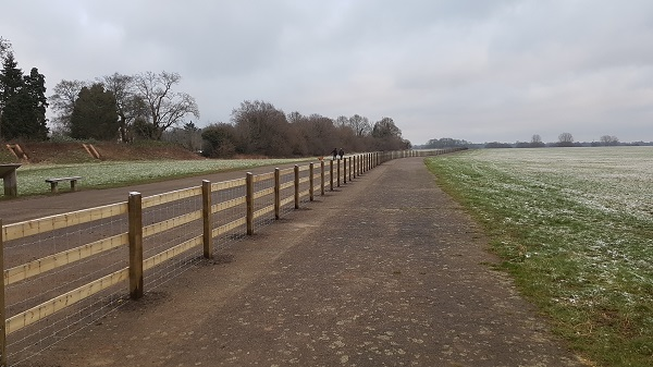Airfield boundary fencing