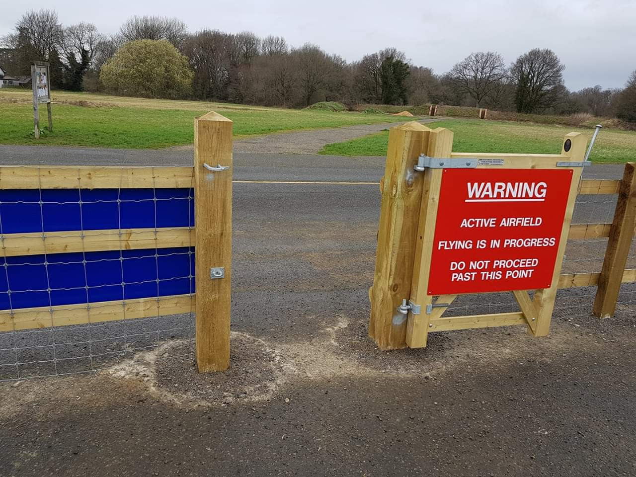 Boundary Demarcation Fencing at Airfield with gate