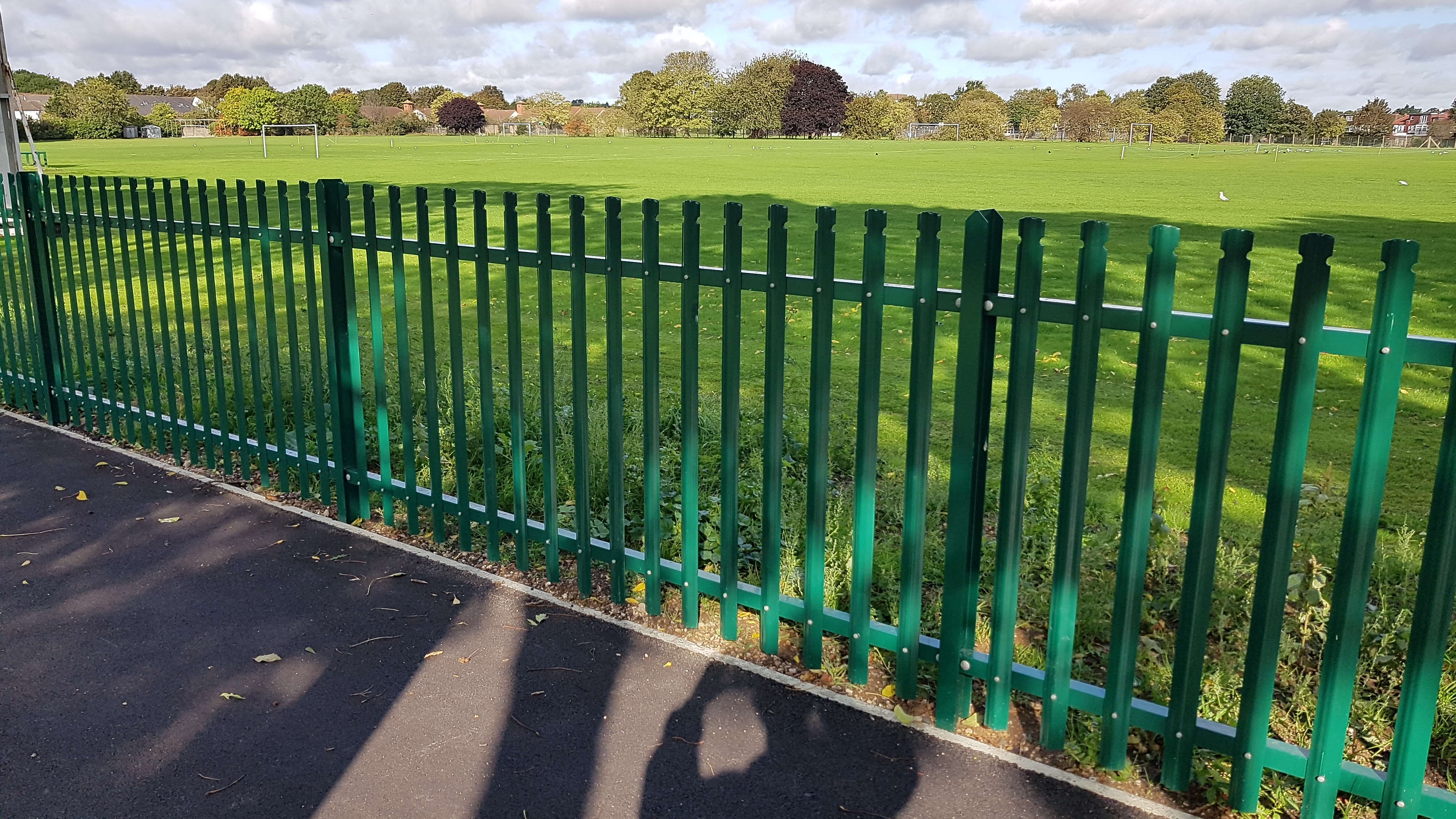 1.5m High steel security palisade
