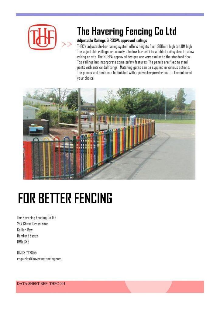 Adjustable-ROSPA Railings