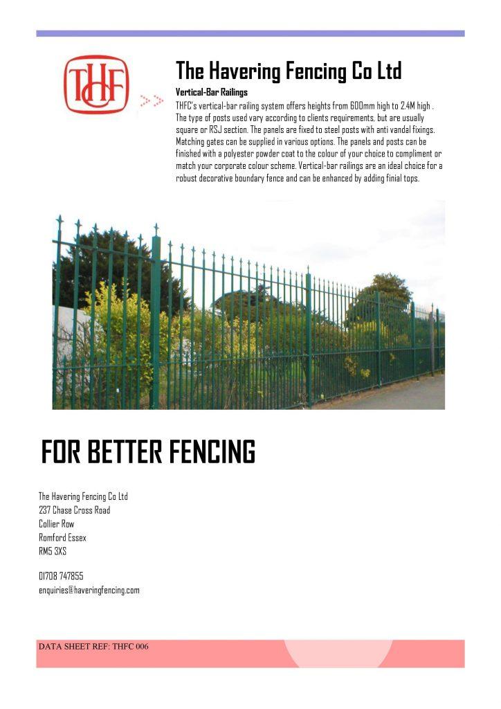 Vertical Bar Railings