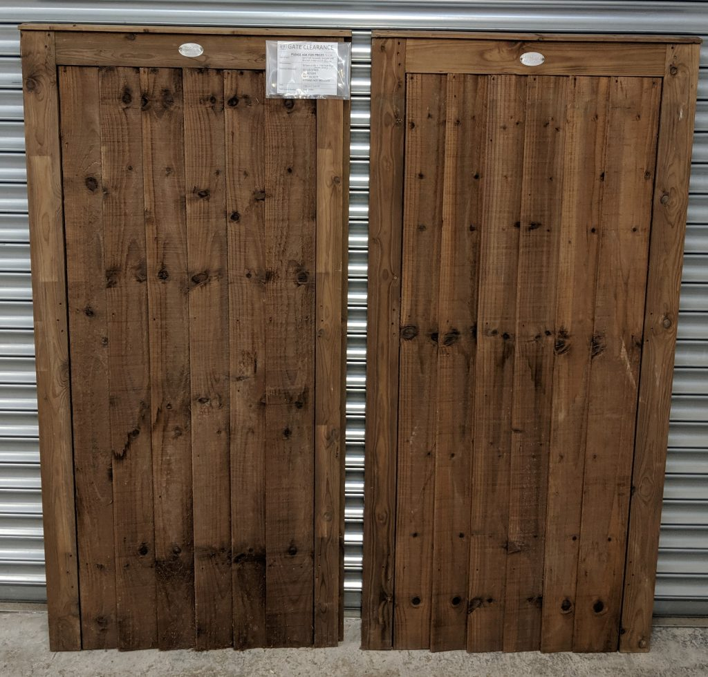 Pair of Framed, Ledged and Braced, Wooden Closeboard Gates Sale