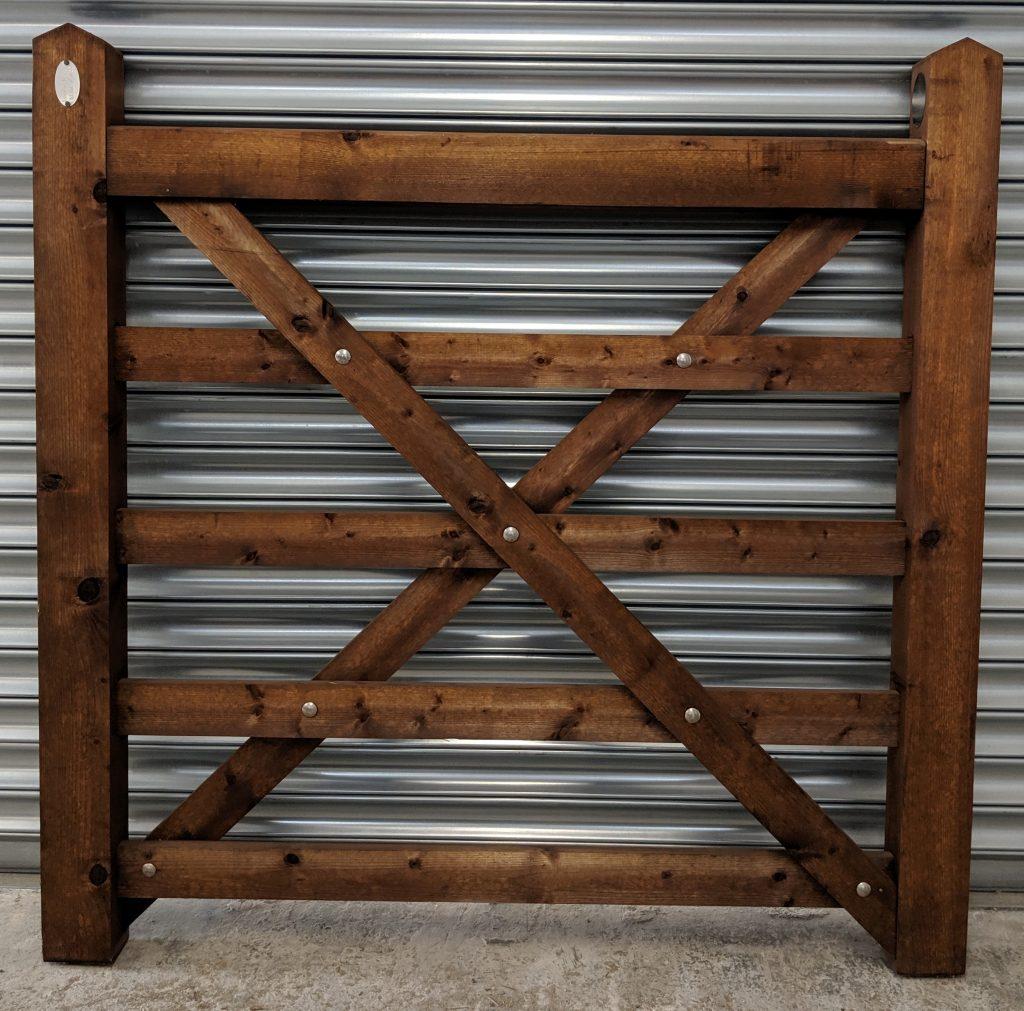 5 Bar Field Gate - New Pressure Treated Brown Sale