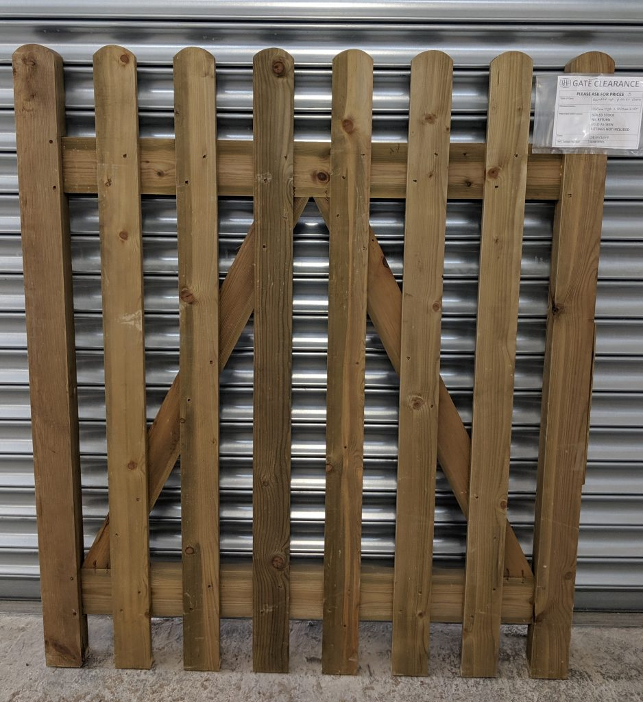 Rounded Top Picket Gate